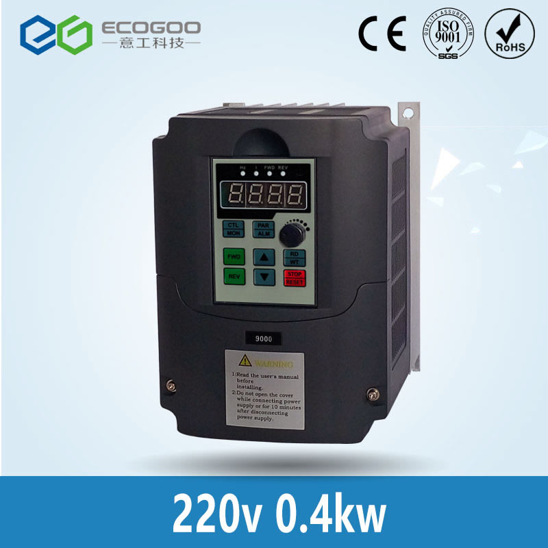 Frequency Inverter 0.4kw 220v single phase input and 220v 3 phase output Mini Frequency Inverter/ac drive/frequency converter frequency inverter 5 5kw 220v single phase input 220v three phase output 5 5kw frequency converter