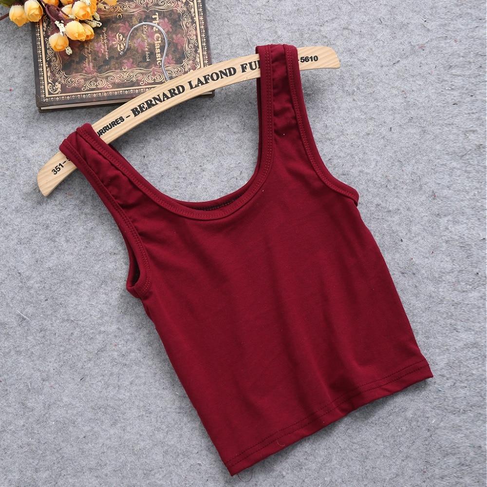 KLV Summer Slim Render Short Top Women Sleeveless U Croptops Stretchable Midriff-baring BacklessTank Tops Solid Crop Tops Vest
