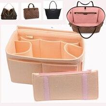 Fits Speedy keepall 45 50 55 60 Delightful Customizable Felt Tote Organizer  Purse Insert(w/Diaper Pocket Detachable Zipper Bag
