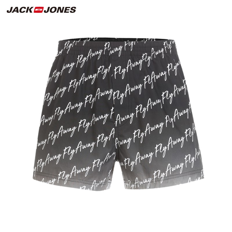 JackJones Men's 100% Cotton Stretch Letter Waistband Boxer Shorts| 218392556