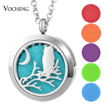 10pcs/lot Perfume Diffuser Locket Necklace Halloween 316L Stainless Steel Pendant Magnetic 30mm without Felt Pad VA-741*10