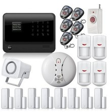 free DHL WiFi GSM GPRS SMS Home House Burglar Security Fire Alarm System Detector Sensor Kit Gsm alarm,Door Close Reminder