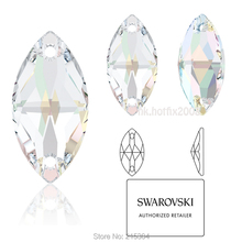 ( You Pick ) Swarovski Elements ( 2 holes ) 3223 Navette AB Crystal ( 001AB  ) Sew On Rhinestones-in Rhinestones from Home   Garden on Aliexpress.com ... f1c972f85df1