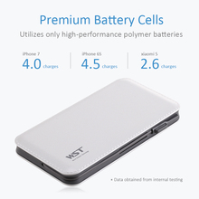 12000mAh Power Bank Built-in Cable Portable Battery Charger for Android IOS Devices Li-Polymer Mobile Portable Battery Pack