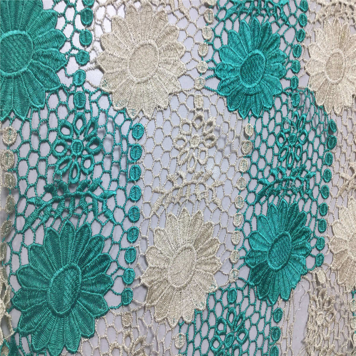 High Quality African Cord Lace Green Nigerian Guipure Lace Fabrics For Women Latest Nigerian Cord Lace 2017 African Lace Fabric