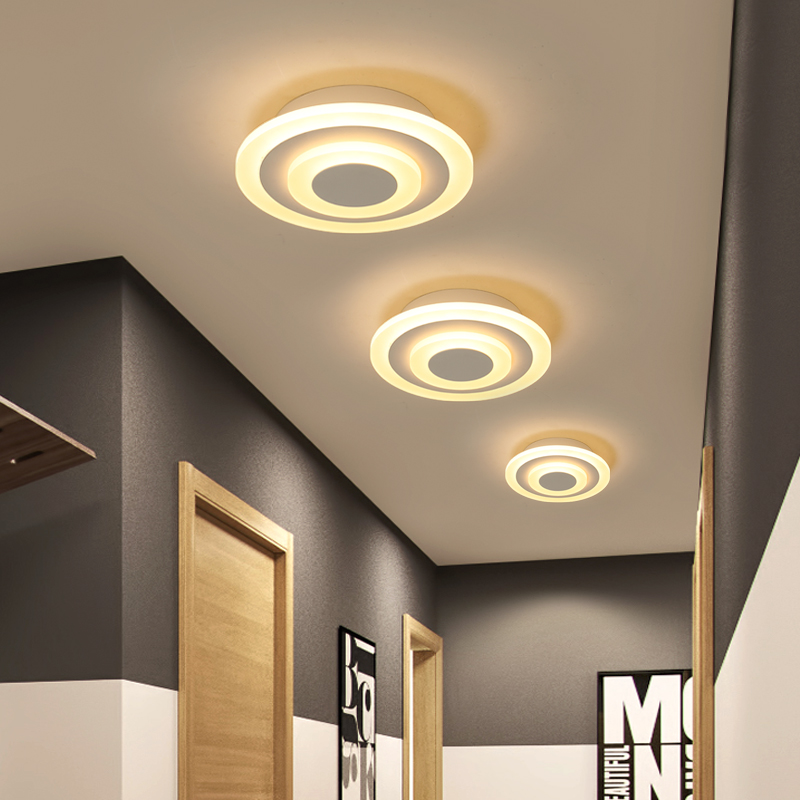 Modern ceiling lights 12w for hallway balcony corridor Coffe white light lamps bedroom luminaria teto acrylic Modern ceiling lights 12w for hallway balcony corridor Coffe white light lamps bedroom luminaria teto acrylic lamparas de techo