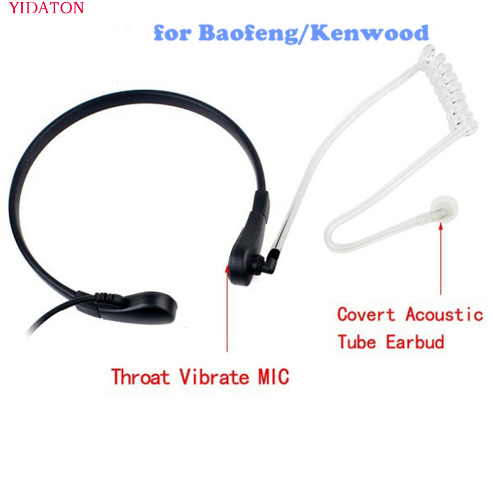 Acoustic Tube Earpiece Coil Tubes Replacement for Two Way Radio Headsets FBI Style Motorola Kenwood Walkie Talkie Earpieces【2 Pack】 with 2X Radio Earbuds by LeiMaxTe