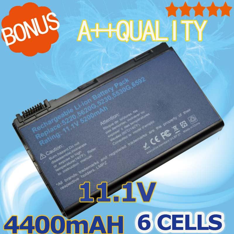 4400 mAH Batterie Pour Acer Extensa 5210 5220 5235 5420G 5620G 5620Z 5630 5630G 5635 5635G 5635Z 7220 7620 7620G GRAPE32 GRAPE34