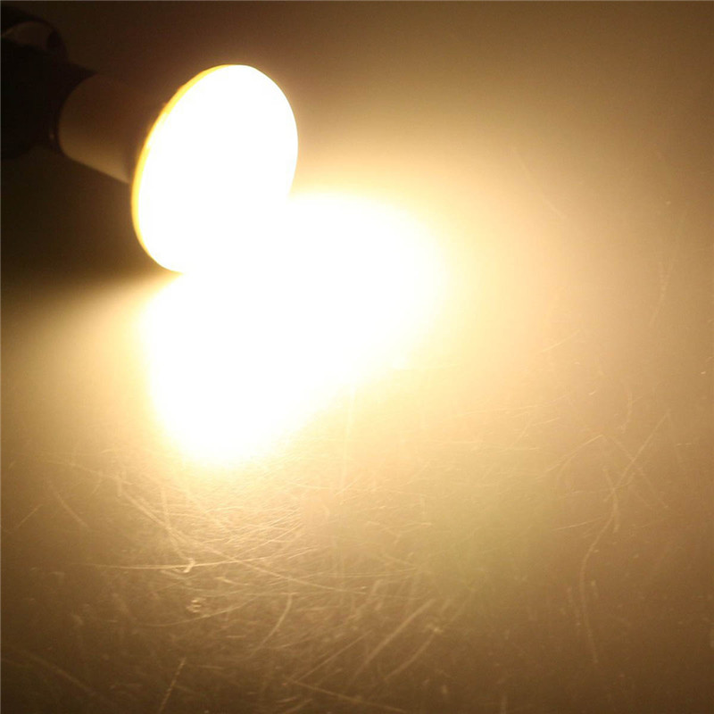 Купить с кэшбэком Newest R63 LED Bulbs 85-265V 3W 5W 7W 9W warmwhite white Spotlight Bulb 5730 E27 Led bulb light for bedroom