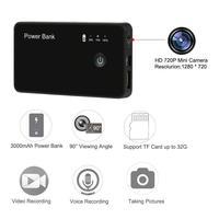 แบบพกพา720จุดHD Miniกล้อง3000มิลลิแอมป์ชั่วโมงธนาคารอำนาจไมโครกล้องบันทึกDV DVRตรวจจับการ