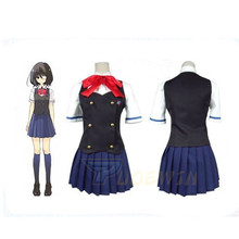 Another Misaki Mei Akazawa Izumi Costume Cosplay School Uniform Skirt Custom Made Any Size
