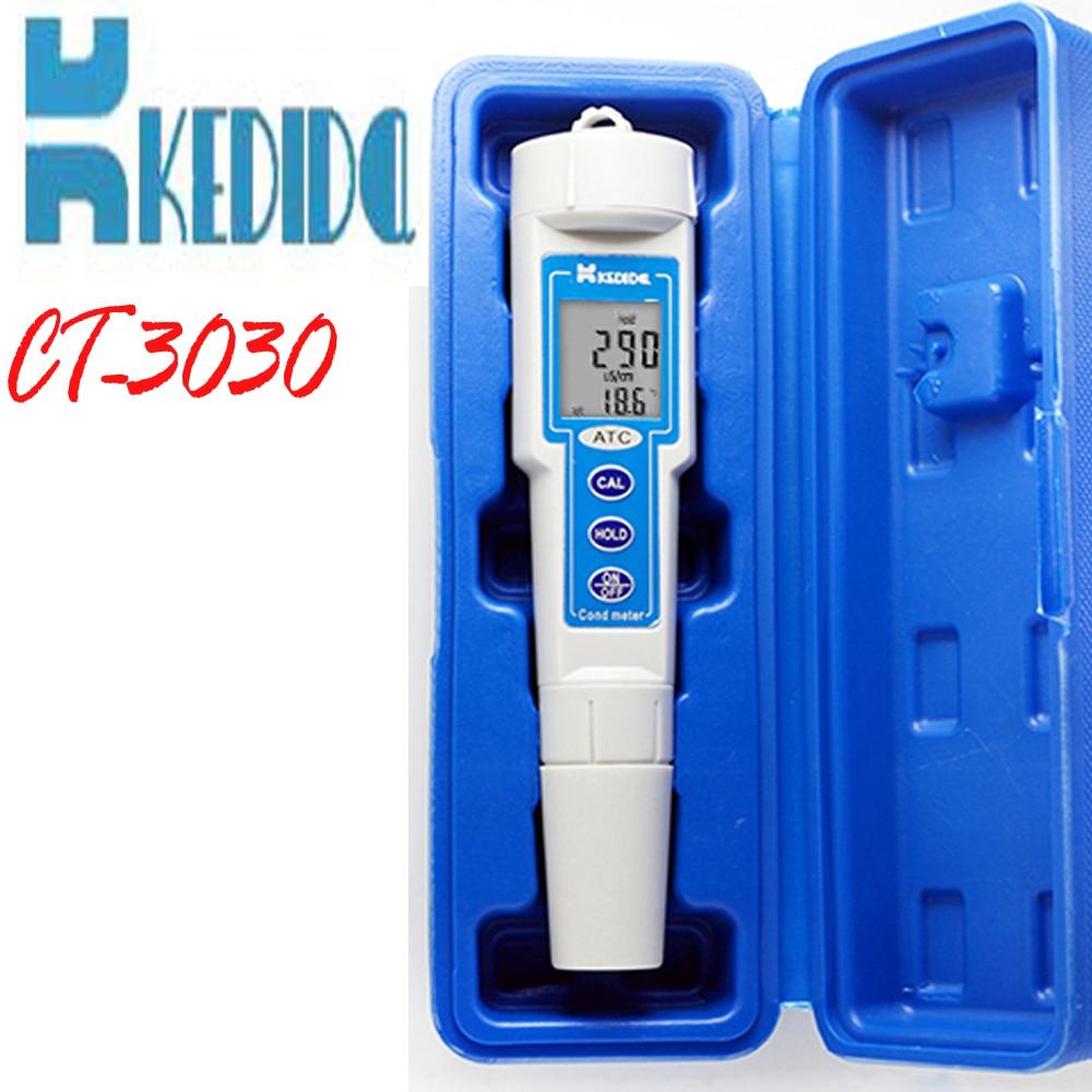 ФОТО CT-3030 Conductivity Meter Measurement range:0 -1999 uS Pen type digital conductivity tester
