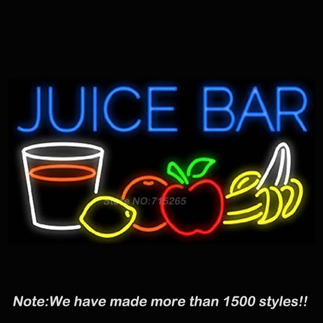 Juice bar neon sign handcrafted real glass tube neon light sign beer juice bar neon sign handcrafted real glass tube neon light sign beer bar pub decorate neon aloadofball Images
