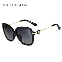 2016 VEITHDIA Classic Women Sunglasses TR90 Frame Material Sexy Ladies Big Sun Glasses Worldwide Sale Eyewear