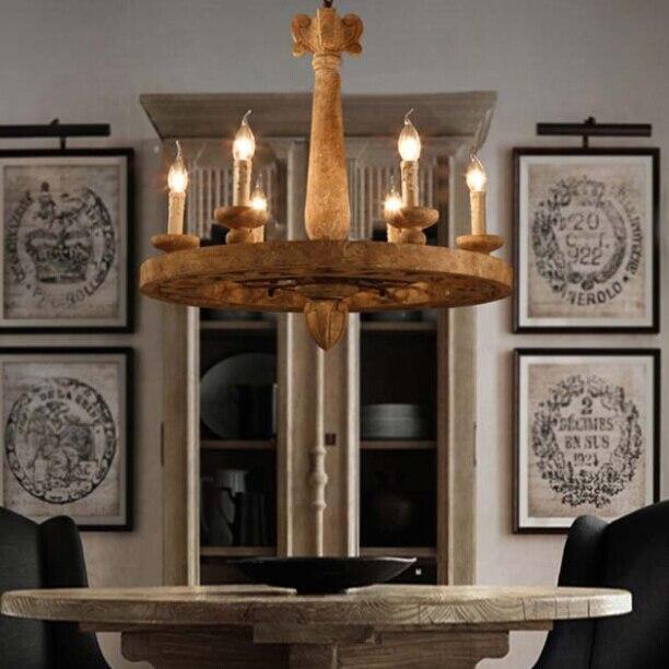 LOFT Vintage Hout Hanglamp Art Bar Cafe Lamp Creatieve Vintage ...