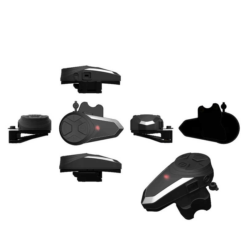 Penawaran Top 1000 M BT-S3 Helm Interkom Headset Sepeda Motor Bluetooth Interfon Handsfree FM Radio Tahan Air BT Interkom 5 lang
