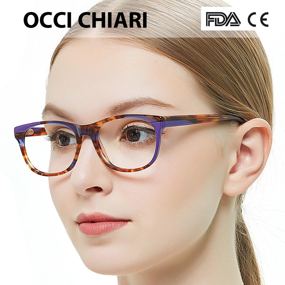 cab35eb2e5 OCCI CHIARI 2018 New Fashion Design Computer Anti blue Ray Women Glasses  Clear Lens Optical Frames Eyewear Eyeglasses W CANNAS-in Eyewear Frames  from ...