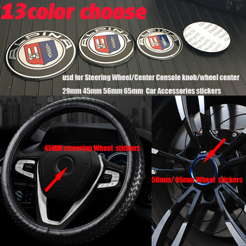 4 piezas volante/Centro de consola de mando/centro de la rueda emblema calcomanías etiqueta 29mm 44/45mm 56mm 65mm accesorios de coche para bmw alpina