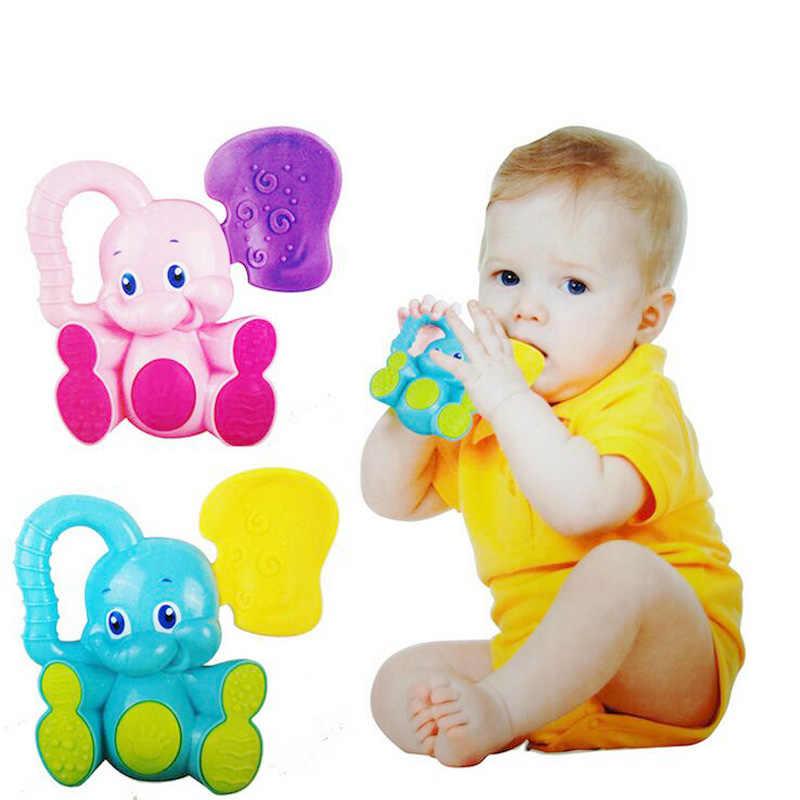 2017 baru gigi lem kecil gajah 0-1 tahun anak usia dini bayi mainan kerincingan toys