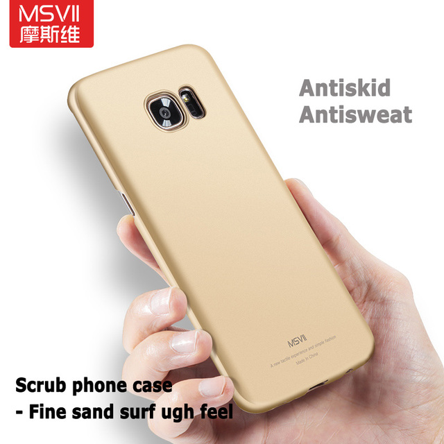 For Samsung Galaxy S7 edge case Original Msvii Luxury Silm scrub cover For galaxy s7 edge case hard PC cover For samsung s7 edge