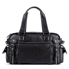 New Men Travel Bag PU Leather Men's Travel Bags High Quality Shoulder Handbag  Tote Large Capacity  Bags