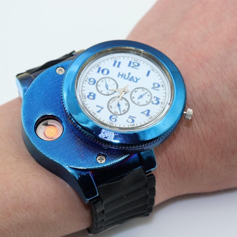 Caliente Moda Casual Deporte Reloj de pulsera USB Encendedor Relojes - Relojes para hombres - foto 2