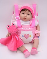 40cm Silicone Reborn babies Dolls simulation sling outfit girl menina Alive Dolls Kids Playmate bb reborn birthday gift
