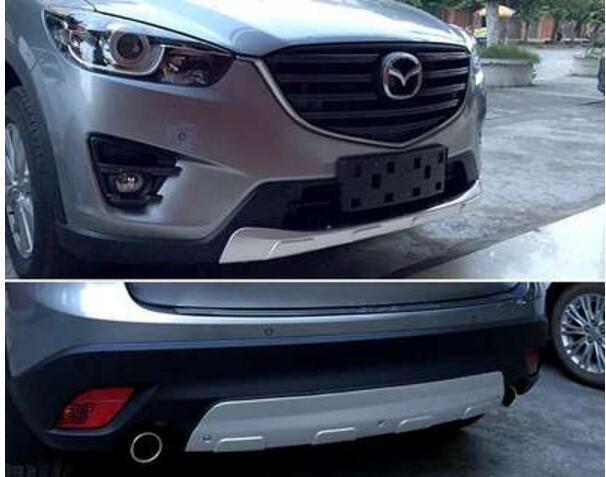 Couvercle de plaque de protection de pare-chocs avant et arrière en acier inoxydable pour Mazda CX-5 CX5 2013 2014 2015 2016
