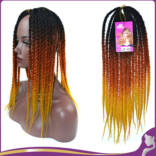 20 Ombre Color Synthetic Kanekalon Kinky Marley Twists Braiding