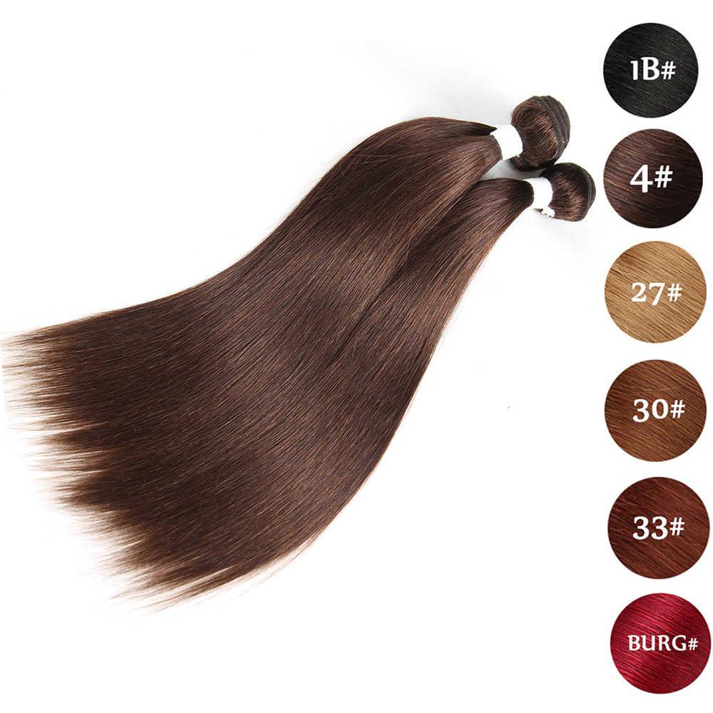 Натуральные бразильские прямые человеческие волосы ткет блонд бордовый красный цвет Remy человеческие волосы пучки ткачество EUPHORIA для наращивания