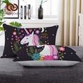 Постельные принадлежности с рисунком единорога  подушка для тела с розовым цветочным рисунком  постельные принадлежности для детей  для ше...