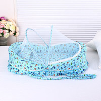 0 24 Months Baby bed with mosquito net portable baby crib game cotton folding bed with cover portable baby cot baby crib