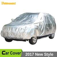 Buildreamen2 Waterproof Car Covers Thicken Cotton Indoor Outdoor Anti UV Sun Dust Rain Snow Hail Protective