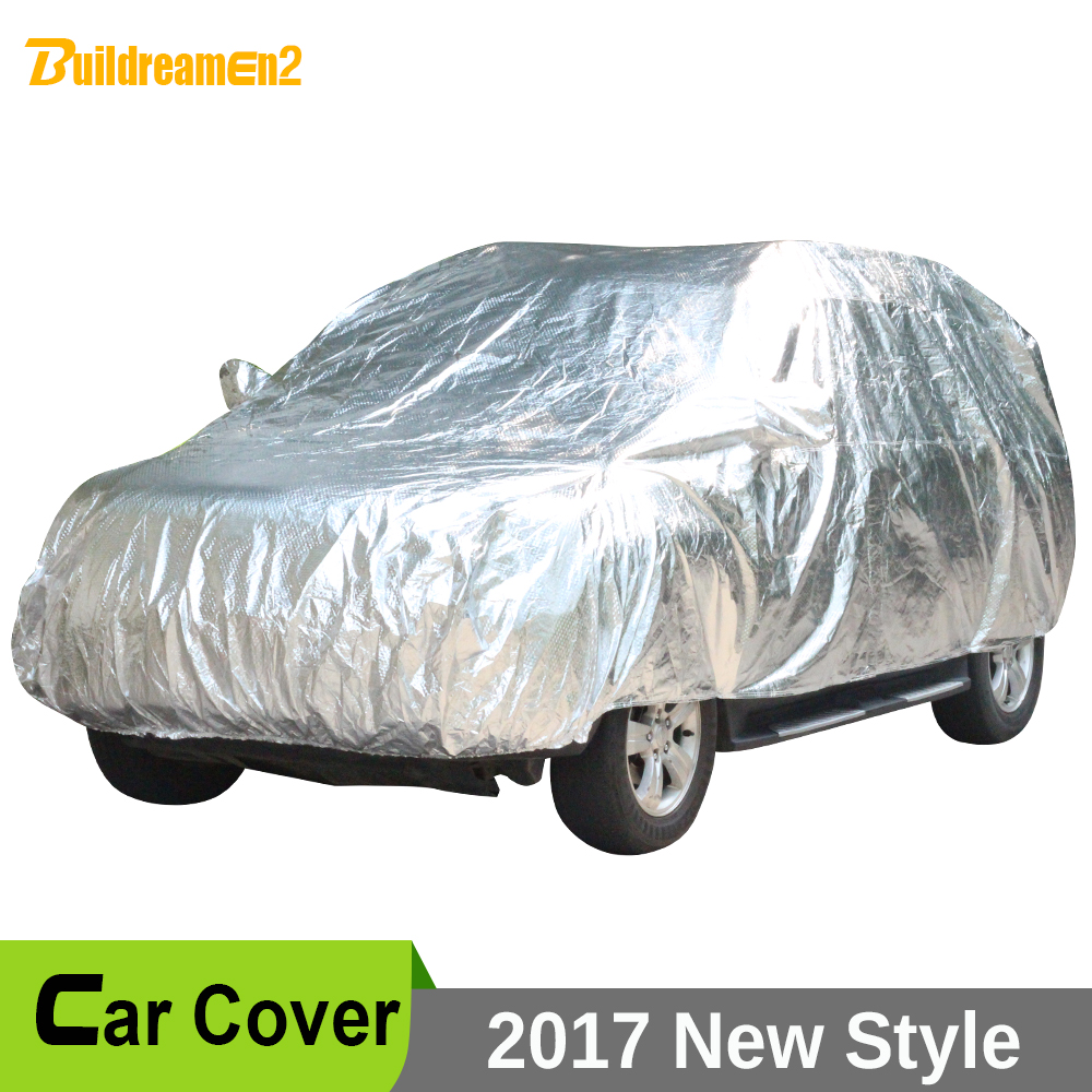Buildreamen2 Waterproof Car Covers Thicken Cotton Indoor Outdoor Anti UV Sun Dust Rain Snow Hail Protective Car Cover Universal buildreamen2 car cover waterproof suv anti uv sun shield snow hail rain dust protective cover for gmc terrain acadia envoy yukon