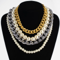Amazing Noble Short 4 Rows Bead Pearl Pendant Choker Collar Necklace New Fashion Jewelry Business Party Dress Necklace