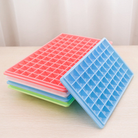 ITECHOR Creative 5pcs 60 Grid Diamond Ice Cube Mold Square Shape Ice Cube Tray Home Bar