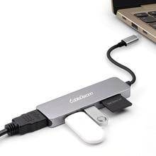 Thunderbolt 3 dock Usb c כדי HDMI/USB3.0 * 2/SD/TF תכליתי רכזת עבור Mac ספר פרו 2018 או אחרים סוג C מכשירים.