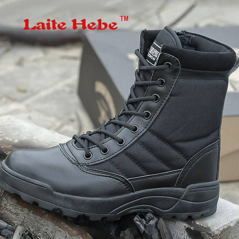 Laite Hebe Delta Tactical Men Boots American SWAT Combat Winter Desert Anti-Collision Shoes Mens Military Boots Hiking Size39-44 2017 military combat desert boot mens army tactical boots military boots spring autumn climbing hiking shoes