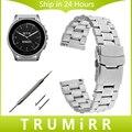 22mm de acero inoxidable correa de reloj de correa de liberación rápida para el vector luna meridiano smart watch banda de seguridad hebilla de pulsera de plata negro