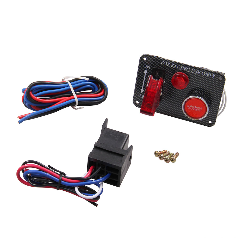 12v Ignition Switch Panel Push Button Start Engine Kit With 3 Racing Wiring Acc Toggles Relay Wire Neo Chrome For Universal Race Car In Switches Relays