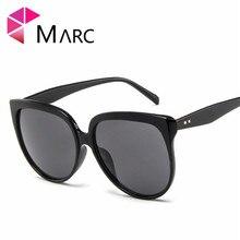 MARC Fashion Sunglasses Men UV400 Sun Glasses For Women Brand Designer Cat eye High Quality Pink Eyewear Male Clear Oversize