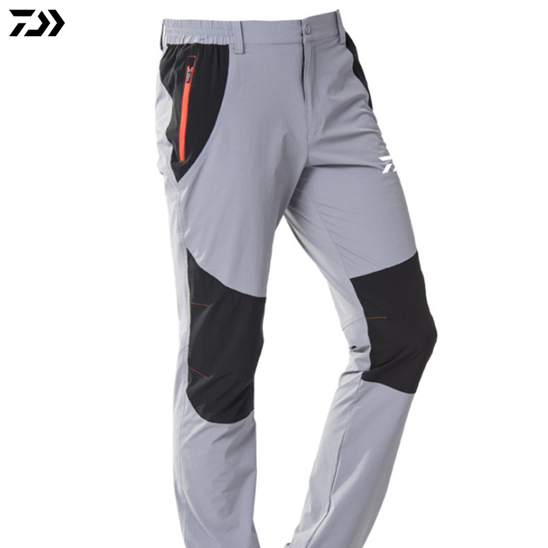 Summer DAIWA DAWA Men Fishing Pants Quick Dry Breathable UV Protection Waterproof Patchwork Male Outdoor Sports Fishing Trousers