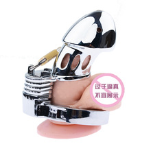 Male Chastity Devices Zinc Alloy Penis Ring Sex Toys Cock Cage For Men Metal Belt Bird Lock Bondage Adult Game