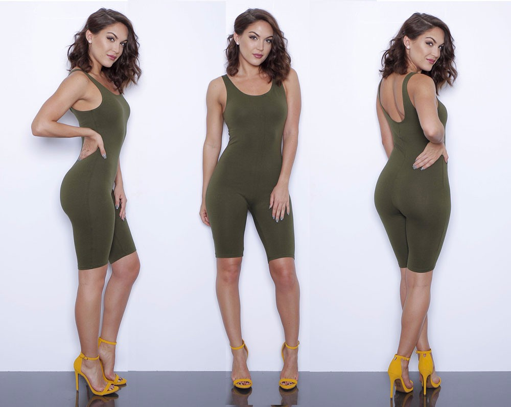 7295527be4b0 Hot Basic Women Bodysuits Cotton Women Rompers One Pieces Bodycon Jumpsuits  Overalls Skinny Jumpsuit-in Jumpsuits from Women's Clothing on  Aliexpress.com ...