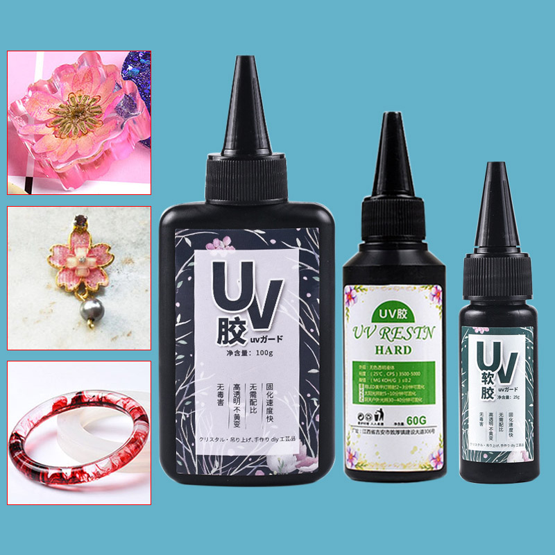 UV Resin Glue Ultraviolet Curing Solar Cure Sunlight Activated Hard DIY Quick Drying For Jewelry AIC88