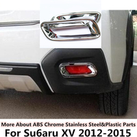 For Subaru XV 2012 2013 2014 2015 car body frame stick styling ABS Chrome cover trim back tail rear fog light lamp frame sticks