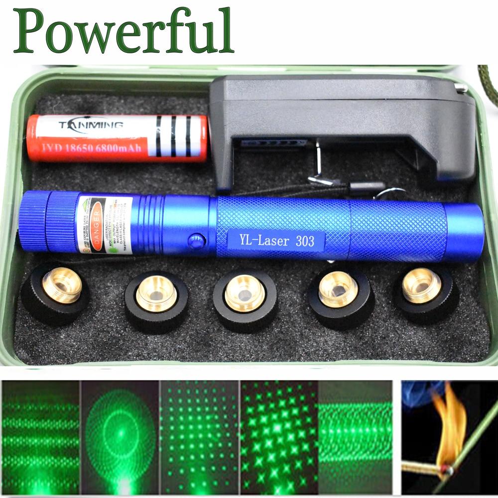 hunting green lazer powerful laser pointer tactical Laser sight Pen 303 Burning laserpen Powerful laserpointer flashlight