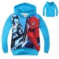 Nuevos Cabritos de la Llegada de Impresión Batman Spiderman MS0605 Outwears Niños del Otoño Ropa Casual Boy Sudaderas Con Capucha de Algodón ENVÍO GRATIS