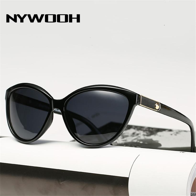NYWOOH Retro Cat Eye Sunglasses Women Polarized Lady Elegant Sun Glasses Female Driving Eyewear UV400