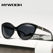NYWOOH Retro Cat Eye Sunglasses Women Polarized Lady Elegant Sun Glasses Female